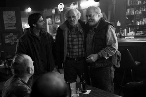 A scene from Nebraska, starring Bruce Dern (centre).