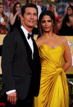 Actor Matthew McConaughey and his wife, Camila Alves.