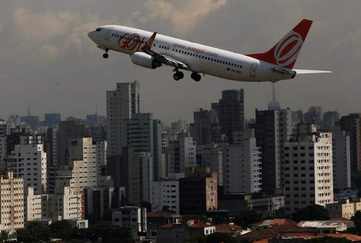 A Boeing 737-800 aircraft takes off in Brazil at the weekend