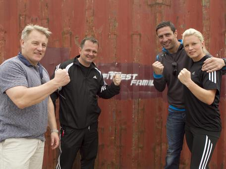 Left, team mentors Eddie O'Sullivan, Davy Fitzgerald, Kenny Egan and Nikki Symmons. Below, Mairead Farrell