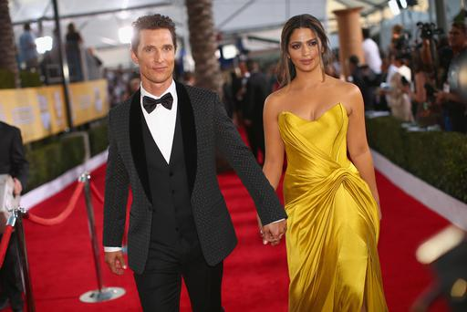 Actor Matthew McConaughey(l) and Camila Alves McConaughey