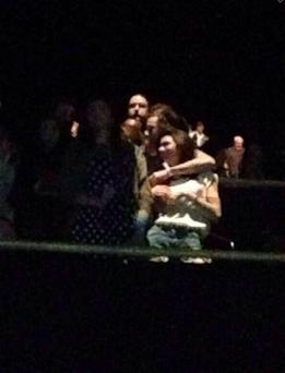 Spotted: One Direction's Harry Styles and reality TV star Kendall Jenner cuddling at The Eagles gig in LA. (Photo: Twitter)