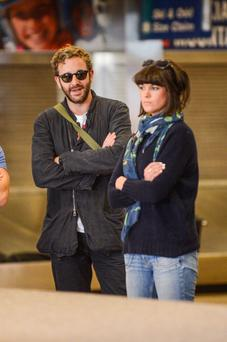Actor Chris O'Dowd and Dawn O' Porter arriving at Park City
