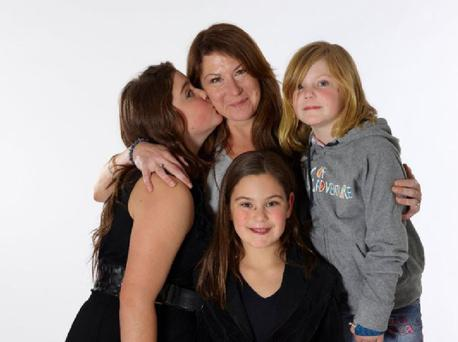 Louise pictured with her three children. Louise tells how an unprovoked attack has changed her family's life forever.