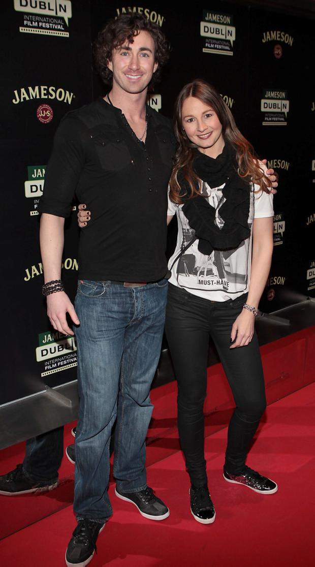 Brendan Sheehan (Brother of Robert Sheehan) and Joy Hawkridge at The Jameson Film Festival 2014 programme launch party at The Lighthouse Cinema Dublin. Pic: Brian McEvoy