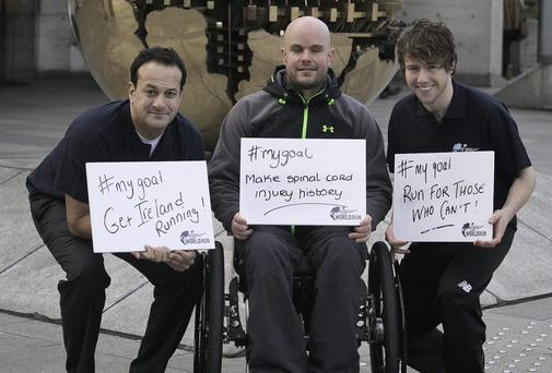 Minister Leo Varadkar, Mark Pollock and Con Doherty