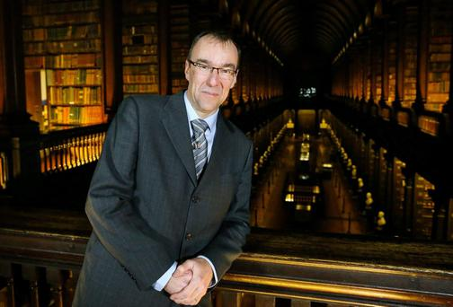 Professor Chris Morash, as the Seamus Heaney Professor of Irish Writing in the Long Room, Trinity College Dublin.