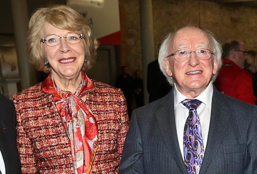 Sabina Higgins with husband President Michael D Higgins