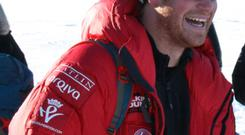 Prince Harry during his Antarctica trek