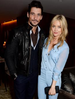 David Gandy (L) and Laura Whitmore