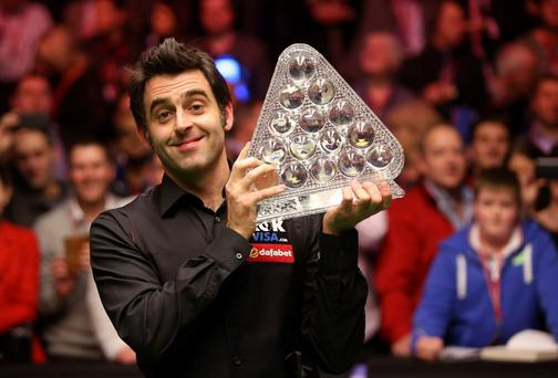 Ronnie O'Sullivan holding his fifth Masters having destroyed Mark Selby on Sunday night at Alexandra Park in London