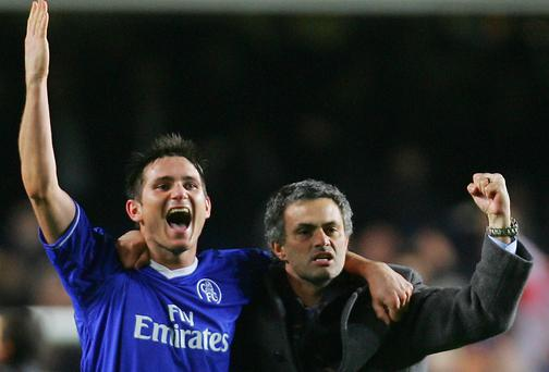 Chelsea's Frank Lampard spoke highly of Jose Mourinho at a dinner held in the manager's honour in London on Sunday