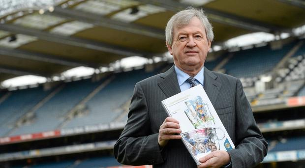 GAA director-general Páraic Duffy at the publicaion of his annual report at Croke Park