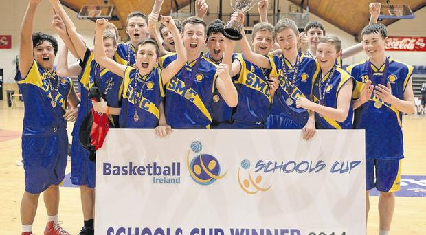 St Munchin's celebrate after beating Portmarnock CC in the All-Ireland Schools U-16C boys final.