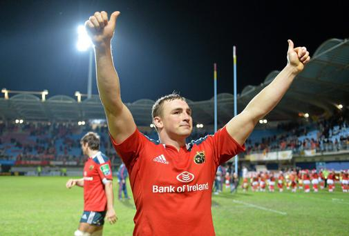 Munster's Tommy O'Donnell returns to the red jersey