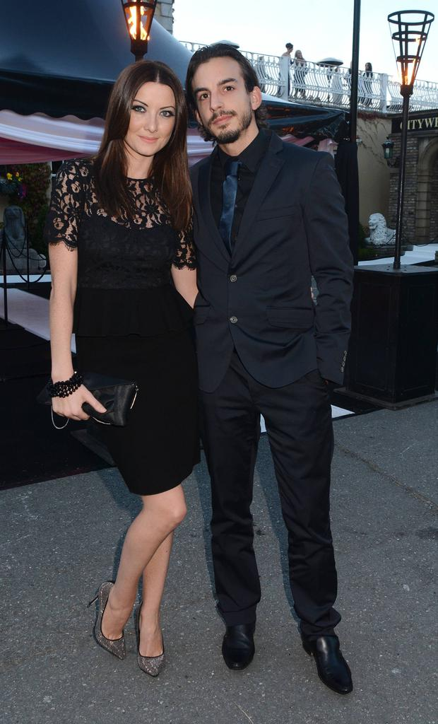 Jennifer Maguire with her husband-to-be Lay Zampareilli Pictures: G. McDonnell / VIPIRELAND.COM