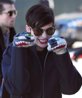 Anne Hathaway is seen at Sundance Festival on January 21, 2014 in Park City, Utah. (Photo by Alo Ceballos/GC Images)