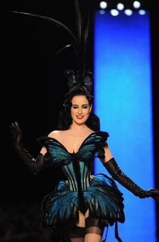 Dita Von Teese walks the runway during Jean Paul Gaultier show as part of Paris Fashion Week Haute Couture Spring/Summer 2014 on January 22, 2014 in Paris, France. (Photo by Pascal Le Segretain/Getty Images)