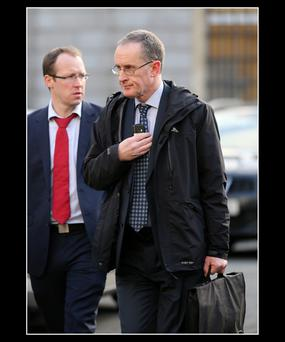 Owen Keegan pictured arriving at Leinster House