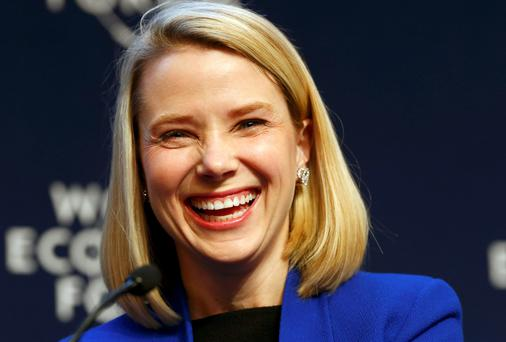 Marissa Mayer, Chief Executive Officer of Yahoo in Davos