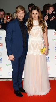 Kian Egan and Jodi Albert attend the National Television Awards at 02 Arena on January 22, 2014 in London, England. (Photo by Ian Gavan/Getty Images)