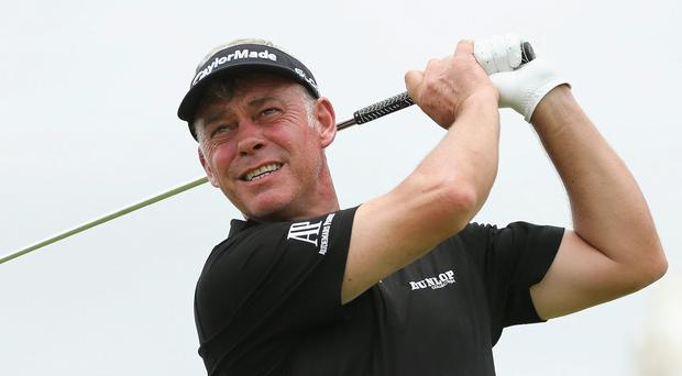 Darren Clarke's chest injury prevented him from stepping up to the tee for the 500th time on the European Tour in Doha yesterday
