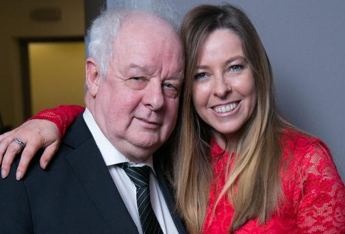 Jim Sheridan with Naomi Moore, CEO of Windmill Lane Recording Studios and Pulse College last night