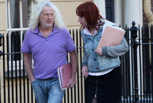 Deputies Mick Wallace and Clare Daly at Leinster House yesterday. Picture: Tom Burke