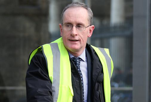 Owen Keegan arrives at Leinster House to appear before the Environment Committee. Photo: Frank Mc Grath