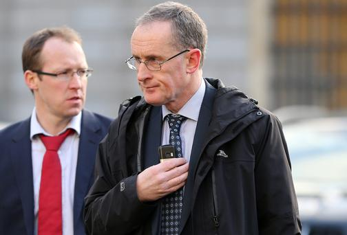 Owen Keegan pictured arriving at Leinster House. Photo: Frank McGrath