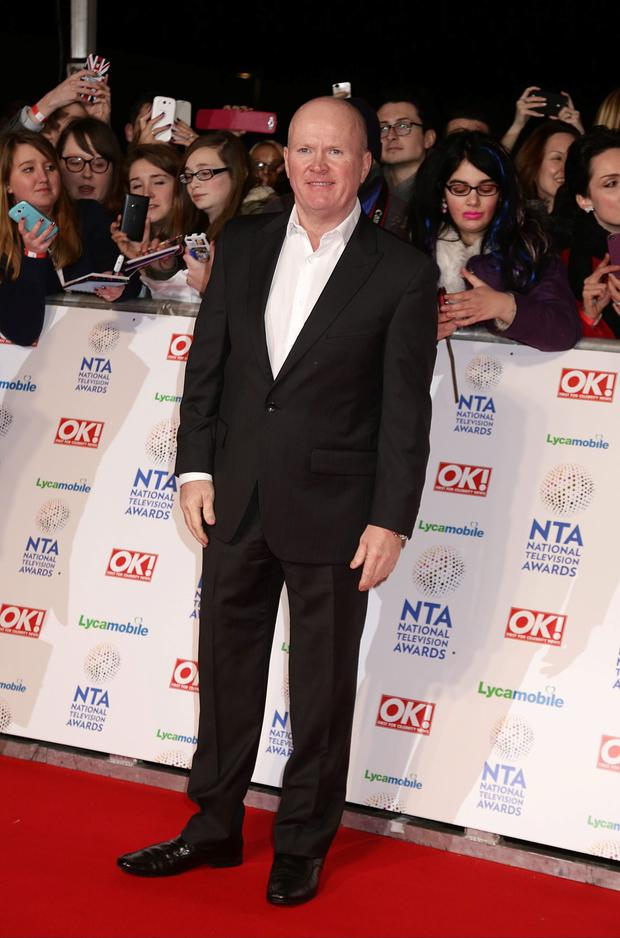 Steve McFadden arriving for the 2014 National Television Awards at the O2 Arena, London.