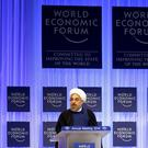 Iran's President Hassan Rouhani speaks during a session at the annual meeting of the World Economic Forum (WEF) in Davos. Photo: REUTERS/Ruben Sprich
