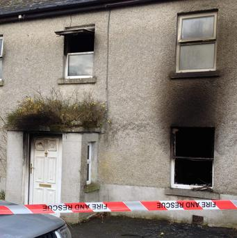 The house in Barry near Keenagh, Co Longford, where an elderly woman died after a blaze broke out. Photo: APX