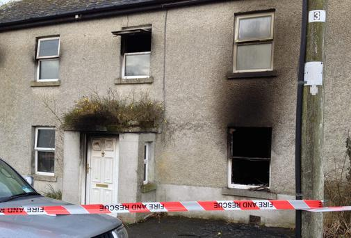 The house in Barry near Keenagh, Co Longford, where a 95-year-old woman died after a blaze broke out. Photo: APX