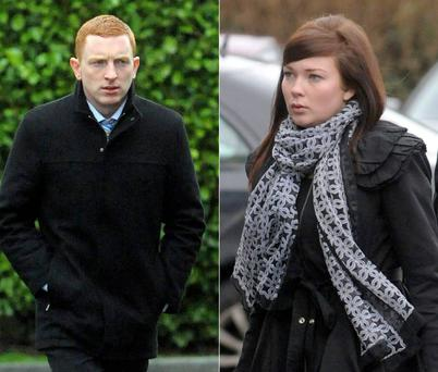 Patrick Daly and Jessica Hughes outside court in Tullamore