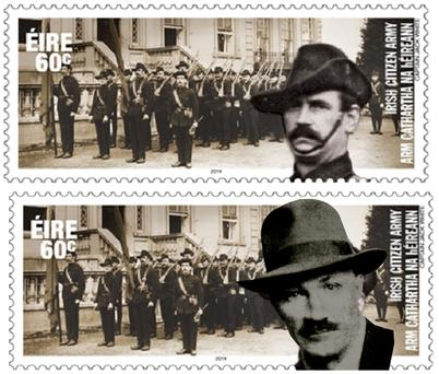 The incorrect image on the stamp