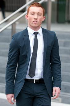 Evan Lewis leaving Dublin Circuit Criminal Court