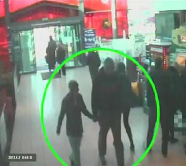 Handout CCTV image issued by Cambridgeshire Police of serial killer Joanna Dennehy walking through Strensham Service station off the M5 south of Worcester on April 2 last year with Gary 'Stretch' Richards at the height of a manhunt
