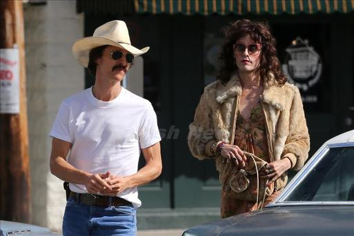 EXCLUSIVE: Matthew McConaughey and Jared Leto on set together in New Orleans. With Leto in drag and Matthew clutching a wad of money the pair filmed scenes for The Dallas Buyers Club. <P> Pictured: Matthew McConaughey, Jared Leto <B>Ref: SPL466581 031212 EXCLUSIVE</B><BR/> Picture by: Deano / Splash News<BR/> </P><P> <B>Splash News and Pictures</B><BR/> Los Angeles:310-821-2666<BR/> New York:212-619-2666<BR/> London:870-934-2666<BR/> photodesk@splashnews.com<BR/> </P>