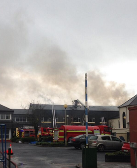 The fire at Glanbia broke out at 8.30am today. Photo: Twitter/@andrisleanach
