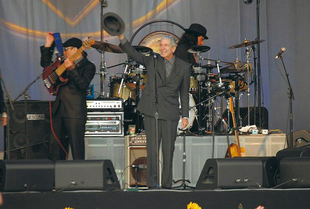 Leonard Cohen performs in Dublin