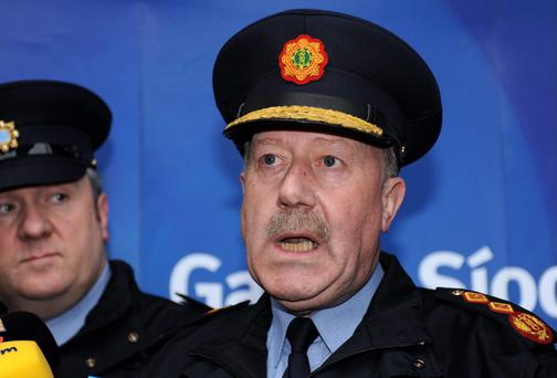 Garda Commissioner Martin Callinan who announced his resignation