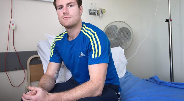 Wexford hurler Tomas Waters in St . Vincent's hospital. Photo: Tony Gavin 13/11/2013