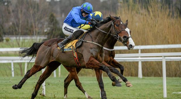 Hurricane Fly, with Ruby Walsh up