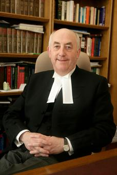 Mr Justice Peter Kelly at his chambers in the Four Courts, Dublin. Photo: Arthur Carron/Collins