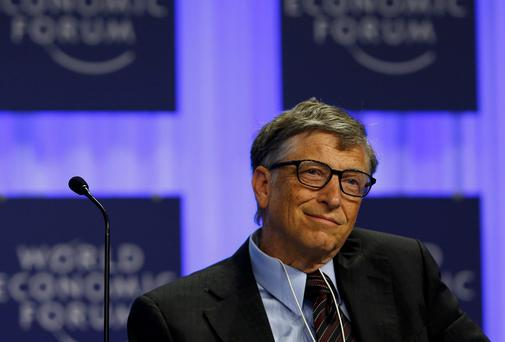 Microsoft founder Bill Gates attends a session at the annual meeting of the World Economic Forum (WEF) in Davos. Reuters