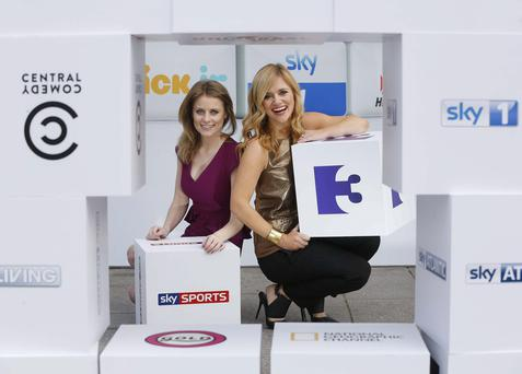Rachel Wyse of Sky Sports News and Karen Koster of TV3s Xposé, pictured at the launch of Sky Ireland's biggest Catch Up TV service.Sky is now set to roll out tailored advertising.