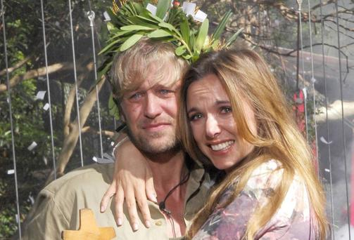 Kian Egan and wife Jodi Albert following the former Westlife star's jungle reality show experience. Photo: Rex