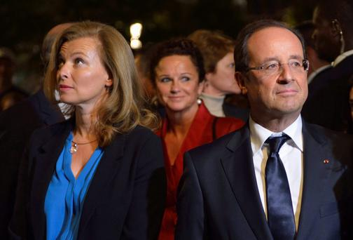 French President Francois Hollande and Valerie Trierweiler