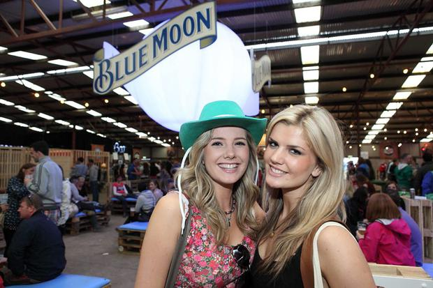 Pictured at the Craft Collection Beer Hall at Indiependence were AnnMarie Liston and Tricia Liston. The event last year included a number of craft beers, including Blue Moon.